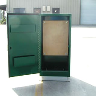 Mild Steel, Green Finish, Double Door – NEW!
