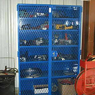 Offering 5 standard colors plus 75 additional custom colors. Enclosure for tools, blue color.