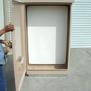 Large beige enclosure for controllers