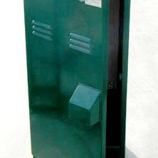 Green single swing enclosure for controllers