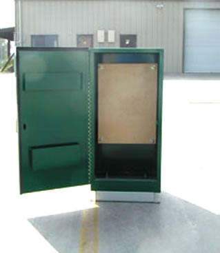 Green enclosure while open, highly durable and resistant to all forms of weather