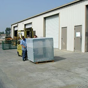 Large enclosures are shipped in crates for easy handling