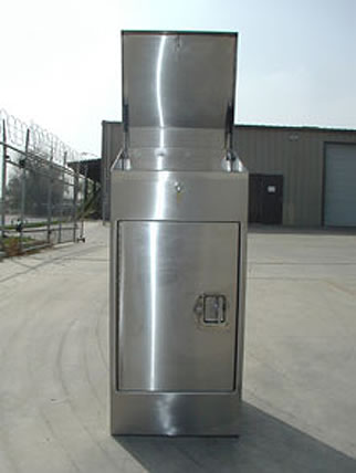 Stainless Steel Top Opening enclosure w/ top open